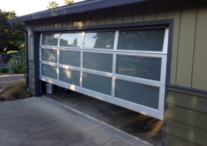 a new garage door installed in minneapolis